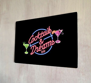 Cocktails-and-Dreams-Movie-bar-sign-A4-metal-plaque-pubs-and-clubs