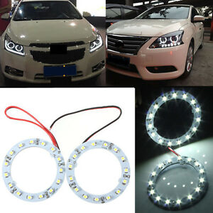 2X-60mm-White-15-LED-SMD-Car-Ring-Angel-Eyes-HeadLight-Halo-Ring-Light-Bulb-12v