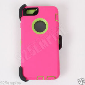 brand new bf98a 18d15 Details about For iPhone 6s Plus Pink/Green Case Cover(Belt Clip Fits  Otterbox Defender)