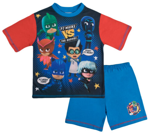 Maschera PJ Pigiama Ragazzo Corto T SHIORT shorts Set Bambini 2 PEZZI Supereroe Nightwear