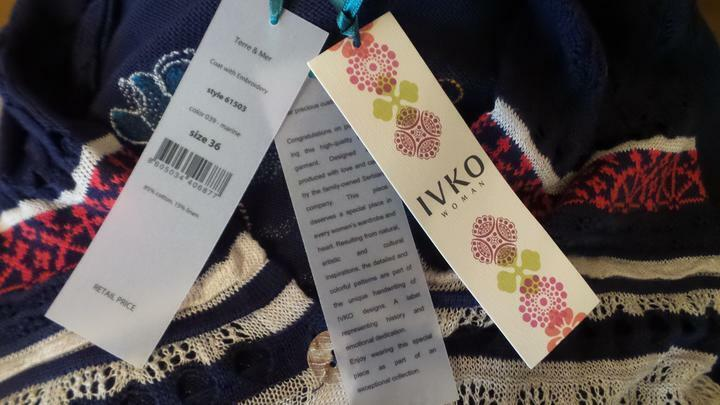 NWT IVKO Embroidered Cotton Linen Long Spring Cardigan Size Size Size 36 - S NEW TAGS 627922