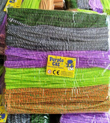 1000 LIMPIADORES DE PIPA CHENILLE 30cm Artesanía Tallos Multi Color Calidad Premium 6mm