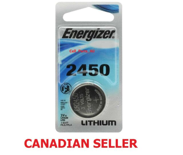 New Original Energizer 2450 Watch Lithium 3 volt Battery, equivilate CR2450 3V