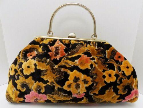 Vtg JR Julius Resnick Carpet Bag Purse Floral Mult