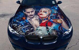 Vinyl Car Hood Color Graphics Decal Harley Quinn Joker