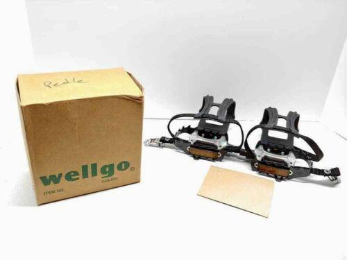 Wellgo LU-897 Plate-forme Pédales Et Bracelet 9//16 Pouces Avec MT-11 TOE CLIP LARGE NEW OLD STOCK!