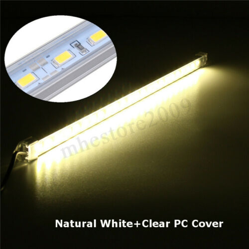 5V USB 35CM 24 SMD 5630 LED Under Cabinet Rigid Strip Hard Bar Light Tube Lamp