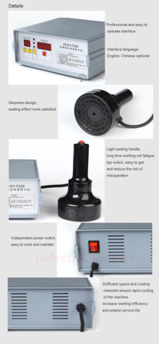 Handheld Heat Induction Sealing Machine Bottle Cap Foil Sealer 1200W Max 20-80mm