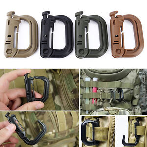 5pcs-Ideal-Carabiner-D-Ring-Key-Chain-Keychain-Clip-Hook-Outdoor-Buckle