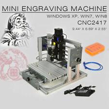 Used Desktop 2417 Mini Engraving Machine Milling Engraver Cnc Router Pcb Metal