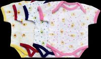 Baby Goods Creepers- Baby Body Suits In Prints - Born 6pc Lot (ecr1016)