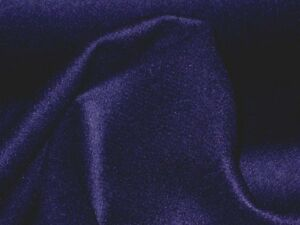 B 66 DARK NAVY LUXURIOUS LAMBS WOOL & CASHMERE PLAIN  MELTON MADE IN ITALY