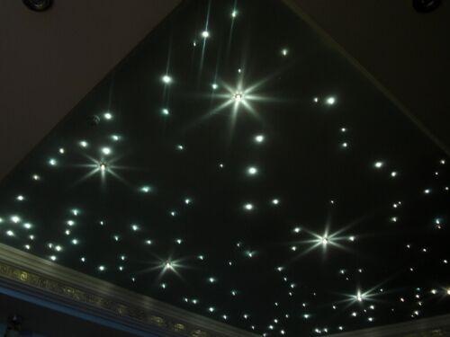 100 Lichtfasern 1mm LED Sternenhimmel Fernbedienung weiß oder farbig möglich