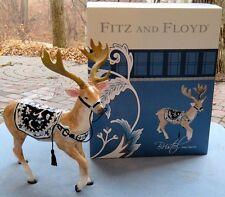 Fitz & Floyd Bristol Holiday Large Reindeer Figurine Centerpiece New in Box