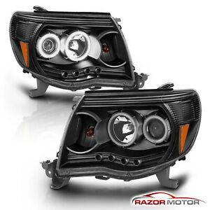 LED-Halo-LED-DRL-For-2005-2011-Toyota-Tacoma-LED-Projector-Black-Headlights