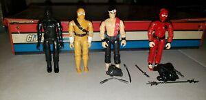 Gi-JOE-1982-Snake-Eyes-Storm-Shadow-V1-1984-plus-complete-Quick-Kick-amp-Jinx