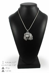 King-Charles-Spaniel-silver-plated-pendant-on-the-silver-chain-Art-Dog-IE