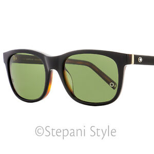 5c3bd6c2ed1 Image is loading Montblanc-Rectangular-Sunglasses -MB507S-01N-Black-Havana-Polarized-