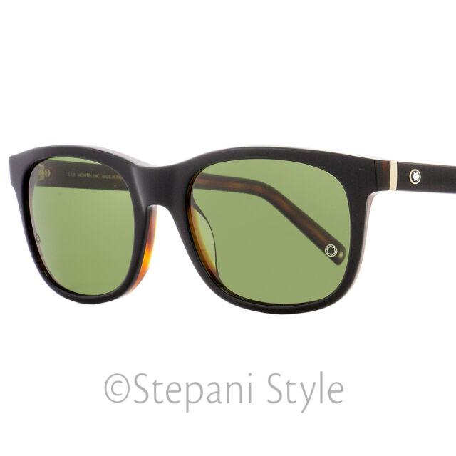 22f7bcf6bc77 Mont Blanc Sunglasses MB 507s 507 01n Black green Polarized for Men ...
