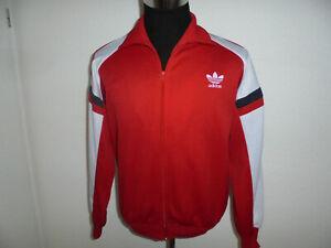 vintage Adidas Trainingsjacke rot 80s oldschool Jacke gym retro Sportjacke D7 L