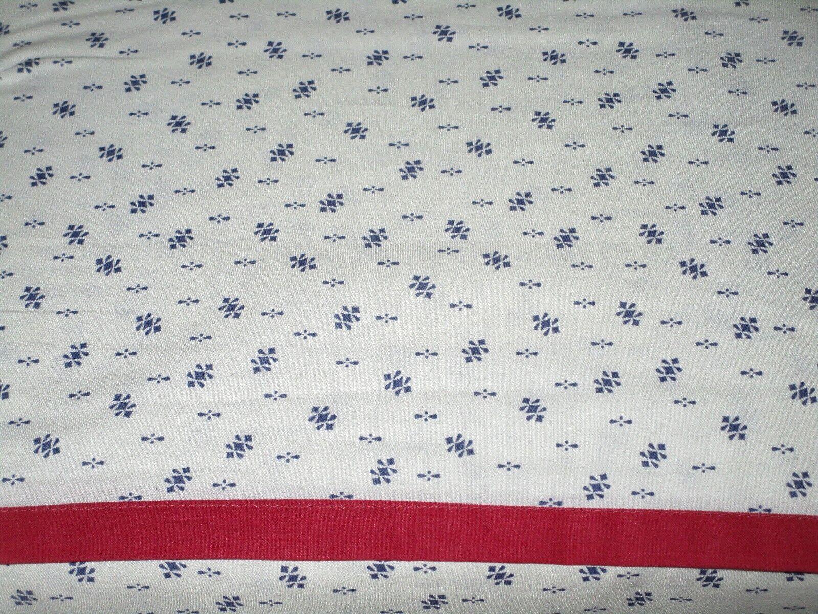 Chaps Ralph Lauren 100% Cotton FULL Flat Sheet Calico Print rot Navy Blau NEW