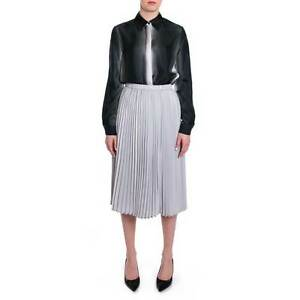 f37e23b622 Women's Girl's Metallic Gray Pleated Midi Skirt. New! Ship Free! | eBay