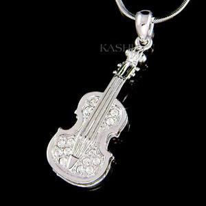 w Swarovski Crystal Fiddle MUSIC musical ~VIOLIN~ VIOLA CELLO Jewelry Pin BROOCH
