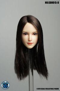 "SUPER DUCK 1:6 SDH015D Girl Head Sculpt For 12"" Female TBLeague PH Figure Body"