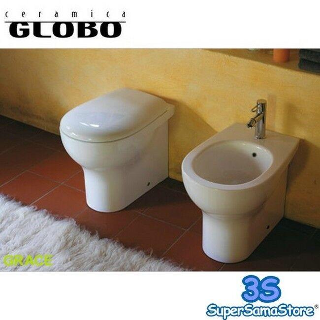 3S SANITARI WC con SEDILE BIDET FILO PARETE GRACE CERAMICA GLOBO BAGNO NUOVI