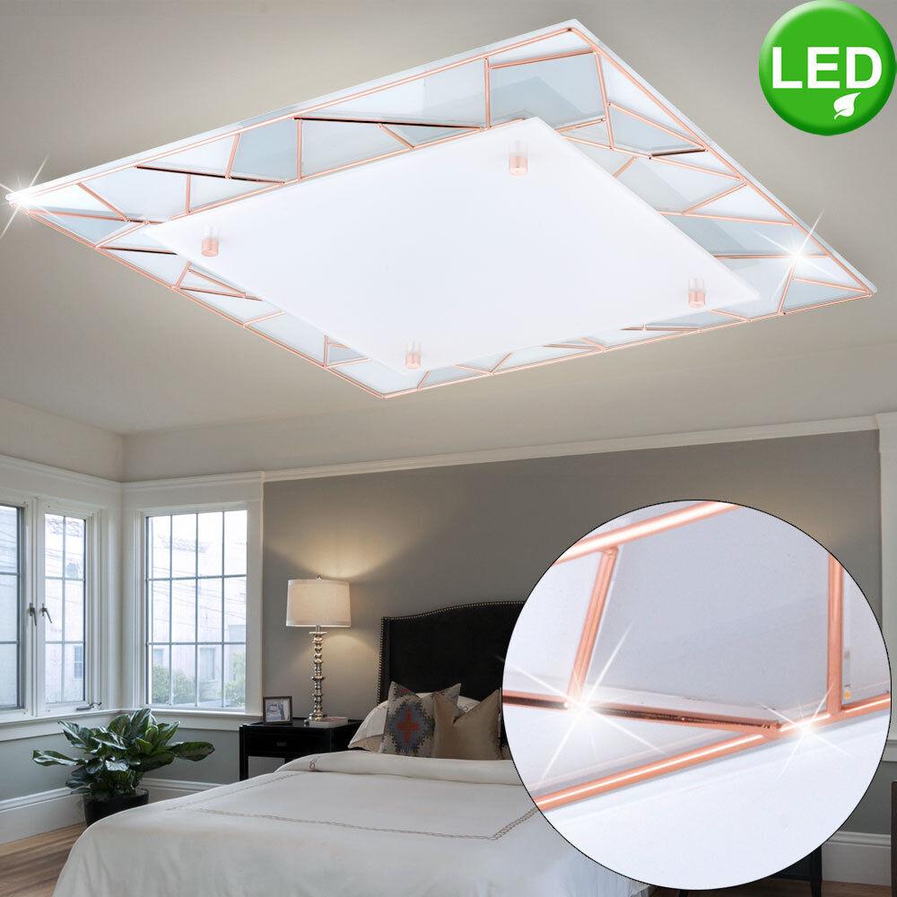 LED plafonnier cuivre mosaïque design verre lampe salon chambre éclairage neuf