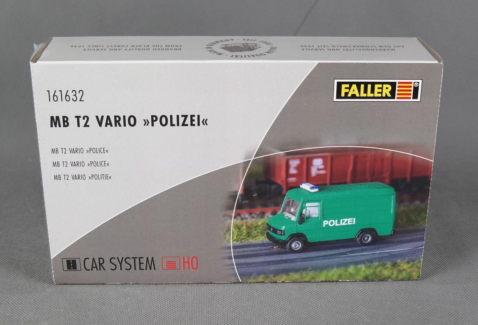 Faller 161632 [h0, carsystem] MB t2 vario policía (Herpa) - productos nuevos