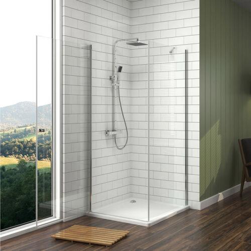 Duschtür Schwingtür Duschkabine Seitenwand 70x70 75x80 90x90 Duschwand NANO Glas