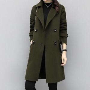 Womens-Lapel-Collar-Wool-Blend-Trench-Coat-Windbreaker-Jackets-Overcoat-Slim-Fit