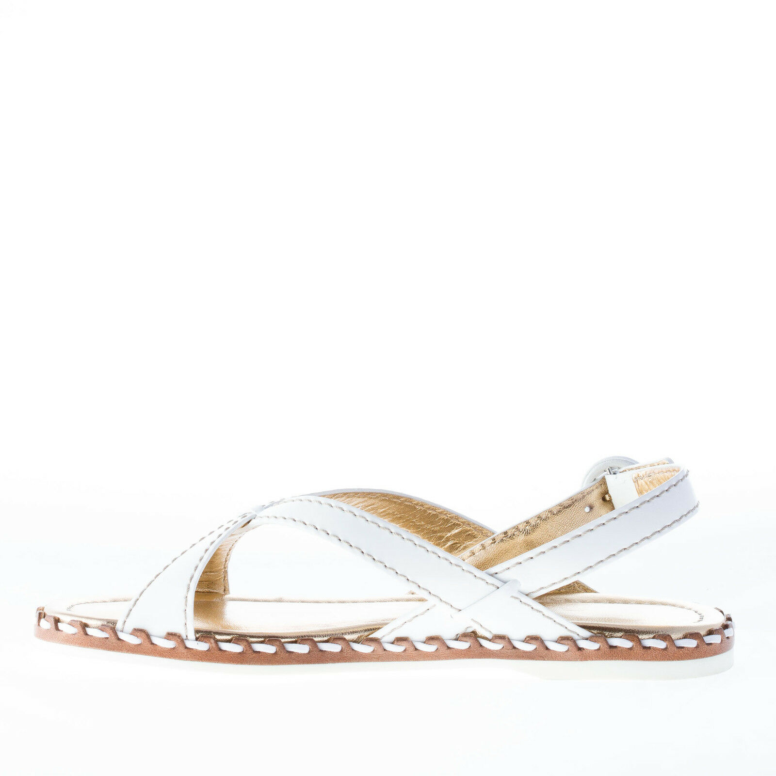 CAR CAR CAR SHOE damen schuhe Damens schuhe Weiß patent Leder Sandale with cross straps c89471