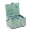 LARGE Sewing Box Fabric Sewing Basket with Handle /& Tray in Various Colours