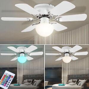LED-Ventilateur-de-plafond-RVB-Telecommande-AIR-refraichisseur-Lampe-Dimmable