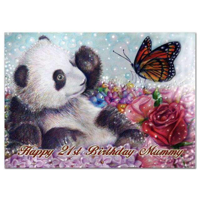 c022; Large Personalised Birthday card; Custom made for any name; Baby unicorn