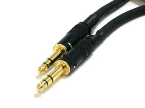 """6ft Premium Stereo 6.35mm 1//4/"""" inch TRS Male to M Audio Cable Gold Plated Cord"""