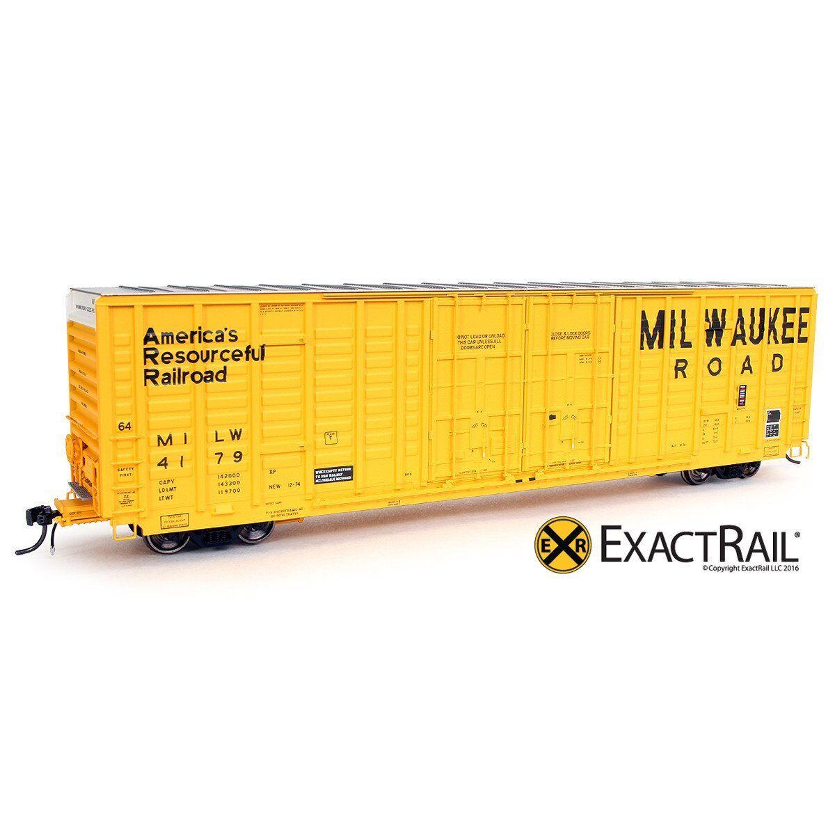 EXACTRAIL HO Milwaukee Road P-S 7315 Waffle Box Car MILW EP-80613-8