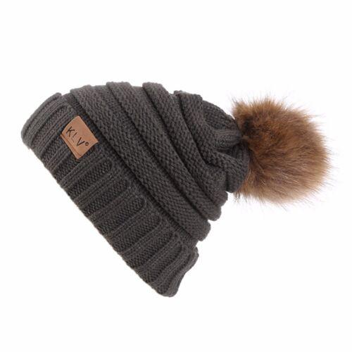 New Men Women/'s Winter Warm Baggy Beanie Hat Cap Wool Knit Ski kull Slouchy Caps