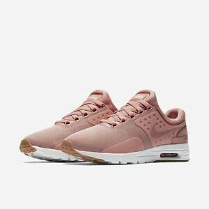 sports shoes 6a4c8 5f171 Image is loading Nike-Womens-Air-Max-Zero-Pink-Red-Stardust-