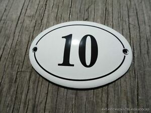 Image is loading SMALL-ANTIQUE-STYLE-ENAMEL-DOOR-NUMBER-10-SIGN- & SMALL ANTIQUE STYLE ENAMEL DOOR NUMBER 10 SIGN PLAQUE HOUSE NUMBER ...