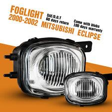 Fits 00 02 Mitsubishi Eclipse Fog Lights Bumper Clear Lens Pair Lamps Leftright Fits 2002 Mitsubishi Eclipse