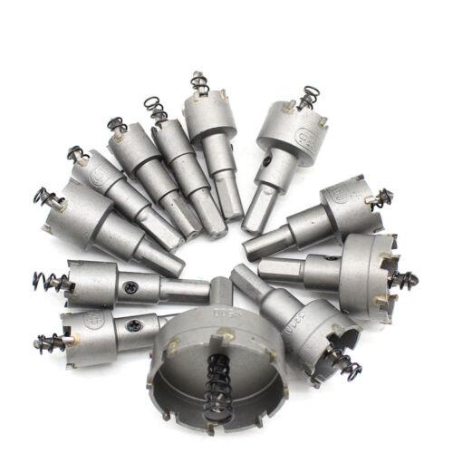 12tlg//Set Hartmetall Lochsäge Bohrkrone Kreisschneider für Edelstahl Metall DE