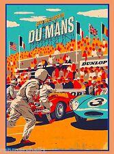 1954 24 Hours Le Mans French Automobile Race Advertisement Vintage Poster 4