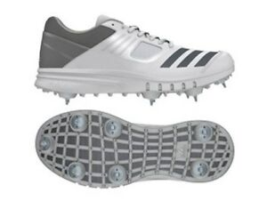 Details about adidas Howzat Spike Junior White Grey Cricket Shoes Size CM7424 UK 3