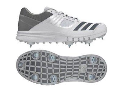 adidas Howzat Spike Junior White Grey Cricket Shoes Size CM7424 UK 3 | eBay