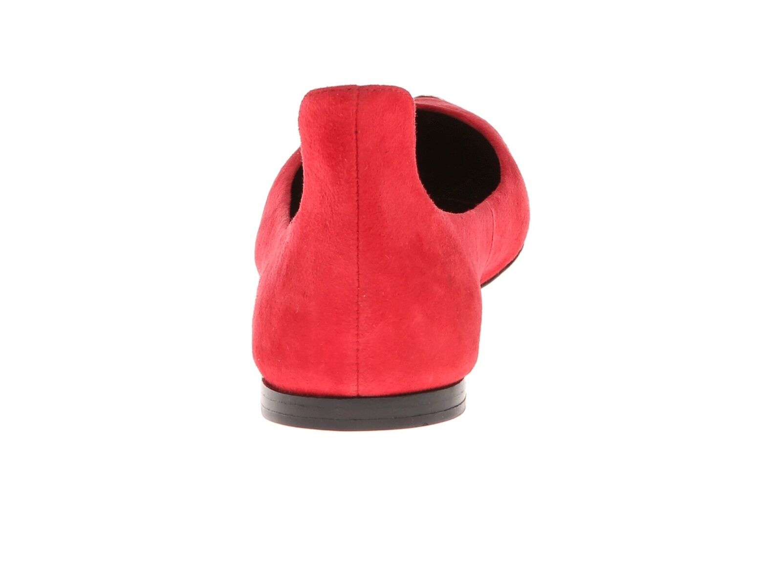B Brian Atwood Atwood Atwood Violette Cap-Toe Donna Size 9.5 Red Suede Flat Shoe Msrp $295.00 2c3c14