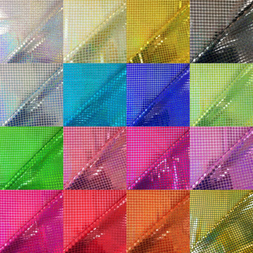 Sold Per Metre Sequin Hologram Square Fabric Shiny Sparkly Fancy Dress Dance
