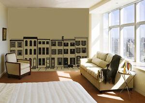 Image Is Loading Philadelphia Row Homes Northeast Brooklyn Brownstone Wall Art